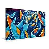 Calvendo Premium Textil-Leinwand 75 cm x 50 cm Quer, Drone Attack | Wandbild, Bild auf Keilrahmen, Fertigbild auf Echter Leinwand, Leinwanddruck Orte Orte