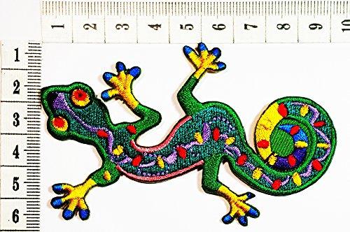 Eidechse Gecko Salamander Retro Hippie Lady Rider Biker Tatoo Jacket T-shirt Patch Sew Iron on gesticktes Schild (Hot Biker Kostüm)