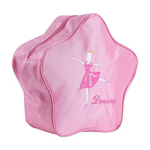 Tiaobug Rucksäcke Ballett Rucksack Ballerina Tanz Tasche Rucksack Kinder Mädchen lässig Sporttasche Pink