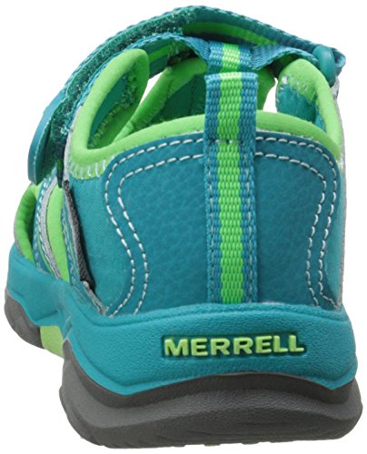 Merrell HYDRO HIKER SANDAL, Sandali sportivi unisex bambino Multicolore (Mehrfarbig (TURQ/GREEN))