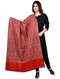 FusFus Women's Wool Weaving Shawl (F0197, Multicolour, Free Size)