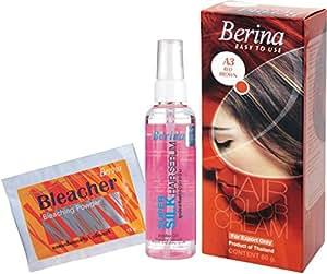 Berina Hair Color, Serum and Bleacher, Red Brown