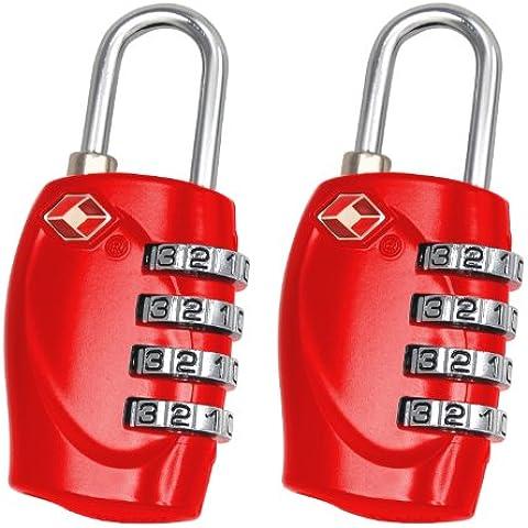 Trixes - Candado numérico para maletas (4 dígitos)