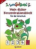 Mein dicker Konzentrationsblock für die Vorschule (LernSpielZwerge - Sammelblock)