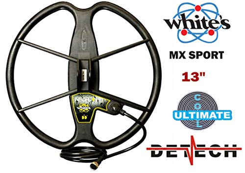 DETECH - Bobina de búsqueda para Detector de Metales Whites MX Sport y MX7 con Protector de Bobina...