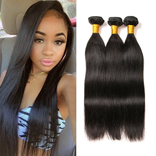 brazilian hair 3 bundles straight 16 18 20 inch human hair weave 300g unprocessed remy hair extension natural color