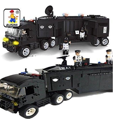 INGENIOUS Juguetes Policía SWAT Móvil Unidad Centro / 423pcs Compatible Bloques de construcción #23704