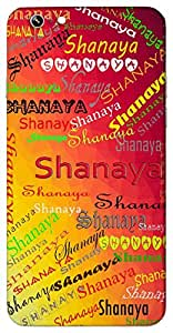 Shanaya (First ray of the sun) Name & Sign Printed All over customize & Personalized!! Protective back cover for your Smart Phone : Samsung Galaxy A-3