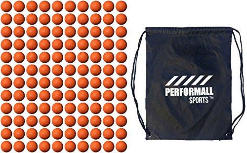Champion Sports Bundle (120-balls) Lacrosse Kugeln NCAA/NFHS/Sei/nocsae zertifiziert mit 1performall Sports Kordelzug Tasche, Orange