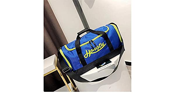 3c80c04559ec Wesource Nylon Large Capacity Gym Bag Sports Holdall Travel Weekender  Duffel Bag for Men and Women(Blue)  Amazon.co.uk  Kitchen   Home