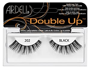 Ardell Glamour Style Number 202 Double Up Eye Lashes, Black