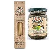 Rustichella d'abruzzo Combo Pack of Spaghettini Pasta 500g & Pesto Alla Genovese (Pesto Sauce) 130g