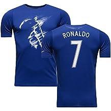 Nike Dfct Ss CR7 Art Tee Yth - Camiseta de manga corta para niño, color azul, talla XL