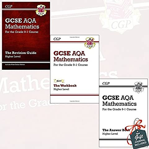 GCSE Maths AQA Higher for the Grade 9-1 Course Collection 3 Books Bundle with Gift Journal (Revision Guide, Workbook, Answers for