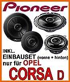 Opel Corsa D - Lautsprecher - Pioneer Komplettset für vorne & hinten