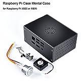 Raspberry Pi Case Metal Case mit Lüfter und Power Control Switch für Raspberry Pi X820 oder X800 SSD / HDD Storage 2,5-Zoll SATA Festplatte Expansion Board von MakerHawk