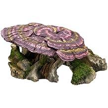 Nobby - Tronco de árbol de madera con seta para adornos de acuario, 28 x