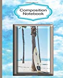 Composition Notebook Wide Ruled: Surfboard Writing Paper Surfer Homework Academic Journal