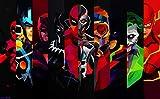 #10: Posterhouzz Comics Superhero Thor Joker Black Panther Ultron Daredevil Deadpool Flash Sta... Fine Art Paper Print Poster