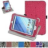 """Acer Iconia One 8 B1-850 Rotación Funda,Mama Mouth 360° Rotación PU Cuero Con Soporte Funda Caso Case para 8.0"""" Acer Iconia One 8 B1-850 Android Tablet,Magenta"""