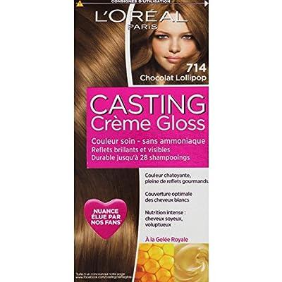 L'Oréal Paris - Couleur soin Casting Crème Gloss chocolat lollipop 714 - la boite de 180 ml - (pour la quantité plus que 1 nous vous remboursons le port supplémentaire)