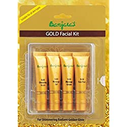 Banjara's Facial Kit, Gold (Pack of 4)