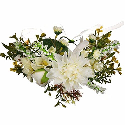 AdorabFitting Girlande garland girlande guder kranz gudelj grunwald Grüne Blattreise Foto Brautjungfer große Blattchrysantheme weiß