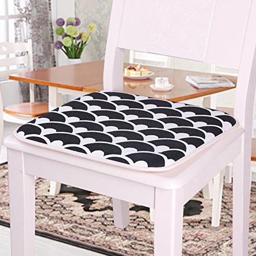 Gesteppte Stuhl-pads (LELI Atmungsaktive stuhl pad,Esszimmer stuhl pad Premium-gepolsterten stuhl kissen gesteppte sitzkissen mit krawatten-C 40x40cm(16x16inch))