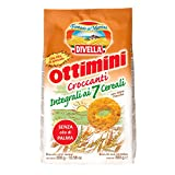 Divella biscotti ottimini croccanti integrali ai 7 cereali da 300 grammi (1000037564)