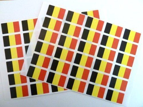 Paquete de 60 , 33x20mm , Bélgica Auto-adherente Bandera Pegatinas , autoadhesivo Bandera Etiquetas