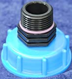 CMTech AM135 - Boca de salida de contenedor IBC (adaptador para depósito de agua de lluvia, empalme a bidón)