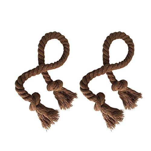 elecharm 1Paar einfach handgefertigt Wohnzimmer, Seil, Quaste Country Vorhang Krawattenhalter coffee -