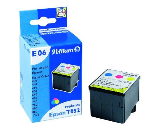 Pelikan 342485 – Cartucho de tinta Epson Stylus Color 400, 440, 600, 640, 660, 740, 800 – T0511 – TRICOLOR
