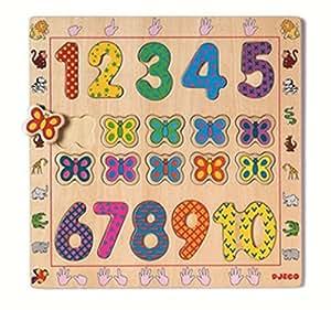 Djeco - 79977 - Puzzle 1 À 10 - 10 Pièces