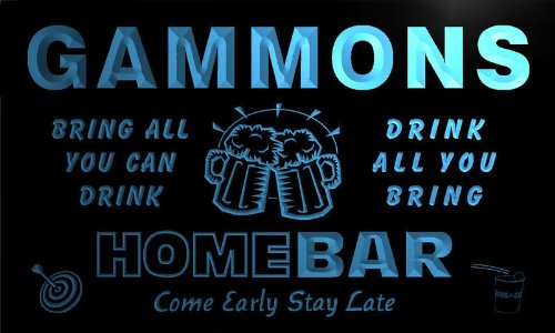 q15902-b-gammons-family-name-home-bar-beer-mug-cheers-neon-light-sign