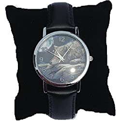 Lisa Parker - Wrist Watch - Quiet Reflection - Wolf Watch