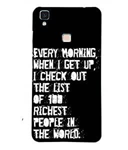 CSK Funny Motivational Wallpapers With Quotes Mobile Case Cover For VIVO V3