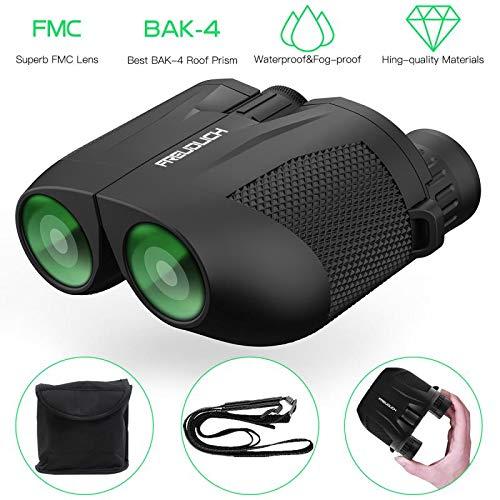 Fernglas 10x25 HD Klein Ferngläser Nachtsicht Kompaktes Prisma BAK4 FMC Grün Linse Tragetasche für Erwachsene und Kinder, Vogelbeobachtung wandern, Sport und Tierwelt