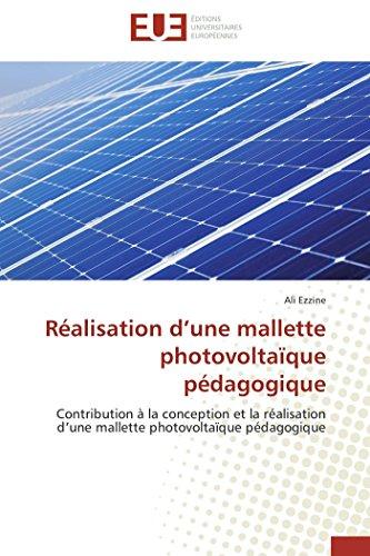 Réalisation d une mallette photovoltaïque pédagogique par Ali Ezzine