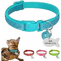 BERRY Kitten - Collares para Gato – Brillante Personalizado para identificación de Mascota Perro Gato – Etiquetas Personalizadas para identificación de Gato
