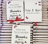 Lágrimas de Felicidad para Bodas con pañuelo de papel lunares granates para los que lloran con...