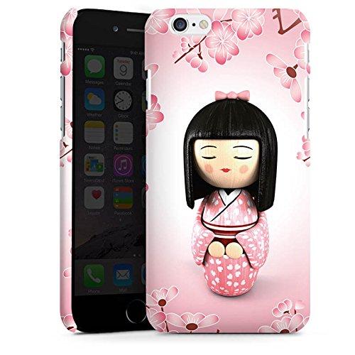 Apple iPhone X Silikon Hülle Case Schutzhülle Sakura Kokeshi Puppe Asien Premium Case matt
