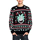 Rick and Morty Let's Get Schwifty Strick-Sweater schwarz M