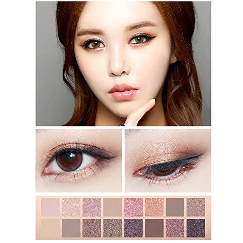Berrose-16 Farben Mode Luxus Golden Matte nackte Lidschatten-Palette kosmetisches Make-up