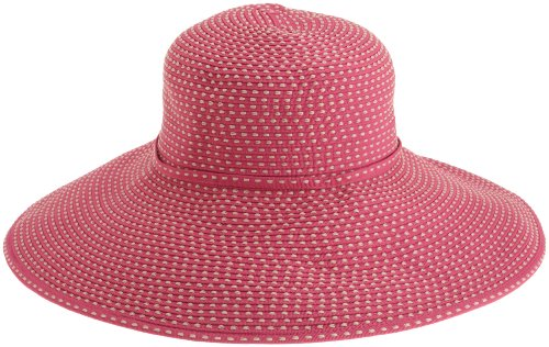 san-diego-womens-ribbon-braid-hat-with-5-inch-brimfushciaone-size