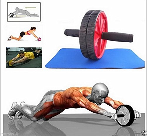 Generic YanHongUk150730–22341yh1192yh ABS exerci abdominal DOMINAL Exe Xercise rueda gimnasio Fitness Fitnes itness máquina cuerpo rodillo de entrenamiento de fuerza Hee