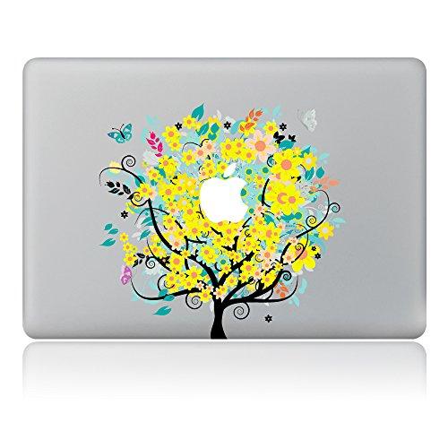 Cinlla® Bunte Baum Welt Laptop AufKleber Notebook Schutzfolie Haut aus Vinyl Skin Sticker Decal für Apple Macbook Pro 13
