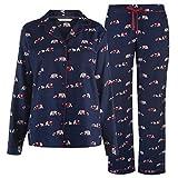 Maison De Nimes Collar Revere Bear Pyjama Set Womens Navy Ladies Sleepwear Small
