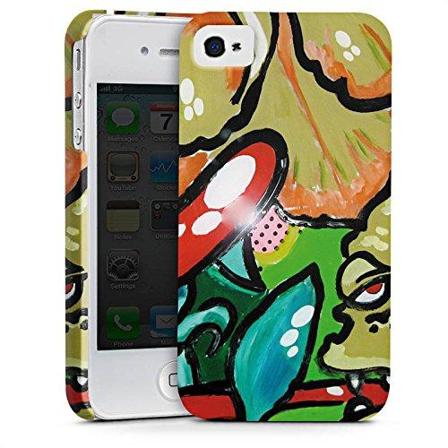 Apple iPhone X Silikon Hülle Case Schutzhülle Blumen Muster Monster Premium Case glänzend