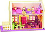 R&Brothers Mamma Mia Doll House Play Set, Doll House with Master Bedroom, Dining